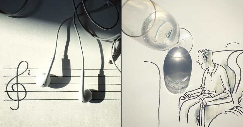 Artist Casts Shadows and Doodles on the Results (21 Photos)