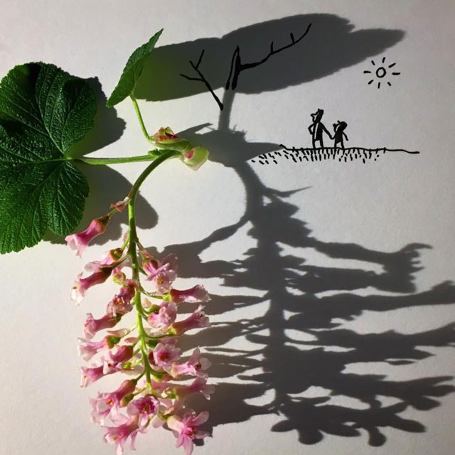 shadow art doodles vincent bal 5 Artist Casts Shadows and Doodles on the Results (21 Photos)