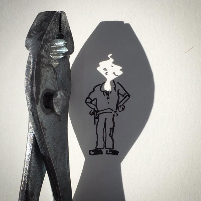 shadow art doodles vincent bal 7 Artist Casts Shadows and Doodles on the Results (21 Photos)