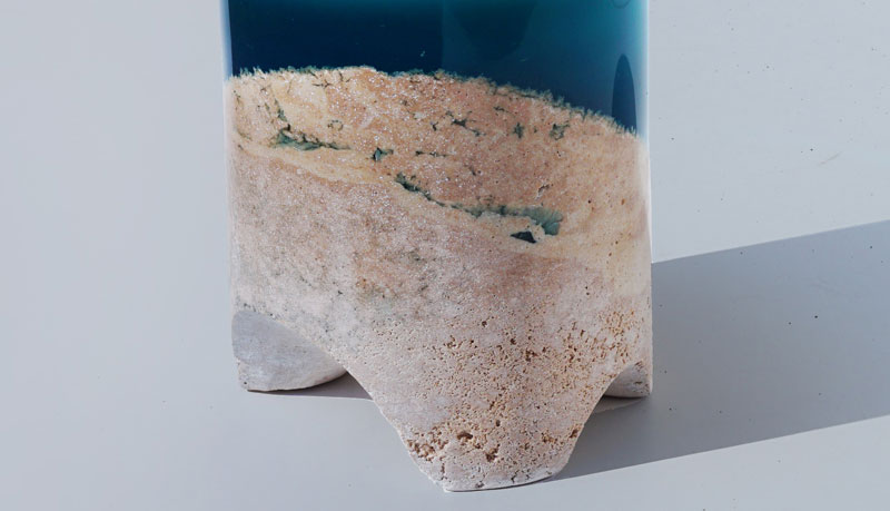 tabouret 1 1 Artist Channels the Ocean Into One of a Kind Tables Using Marble and Acrylic