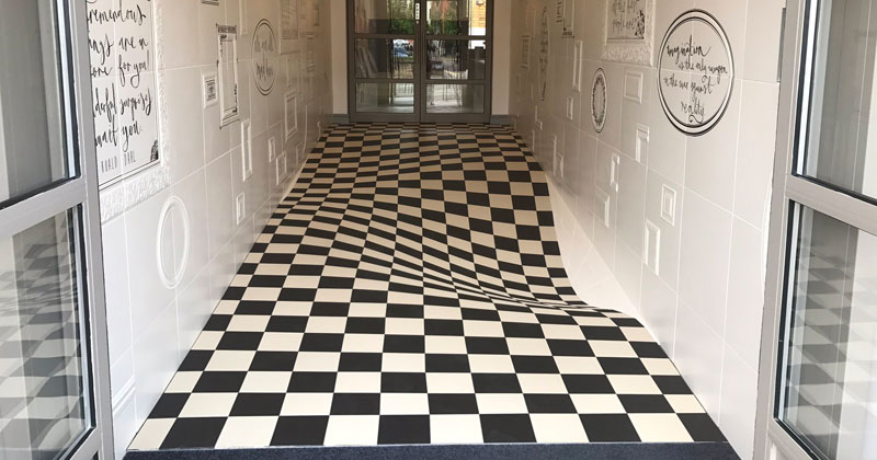 A Completely Level Floor Made from 400 Individual CeramicTiles