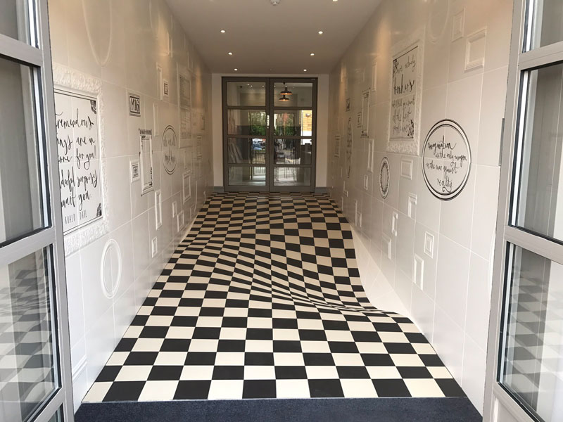 A Completely Level Floor Made from 400 Individual Ceramic Tiles ...