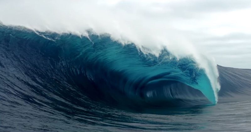 there�s a wave in australia called cyclops and it looks