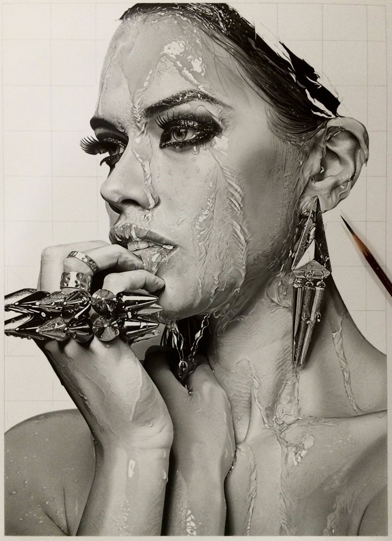 Image of: Pencil Portrait Hyper Realistic Pencil Drawings By Japanese Artist Kohei Ohmori 11 Highly Detailed Close Ups Of Amazing Twistedsifter Highly Detailed Closeups Of Amazing Hyper Realistic Pencil Drawings