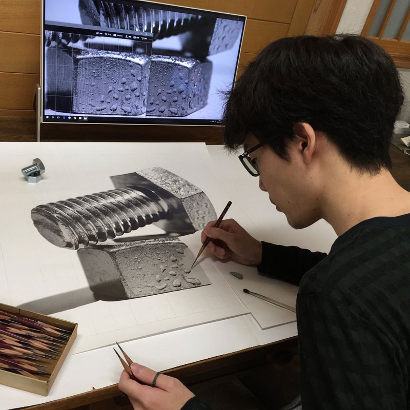 Hyper realistic pencil drawings by japanese artist kohei ohmori 16 highly detailed close ups of amazing