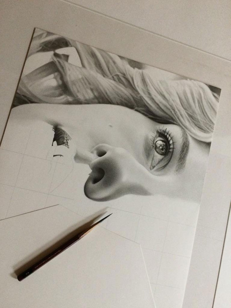 hyper realistic pencil drawings by japanese artist kohei ohmori 2 Highly Detailed Close Ups of Amazing Hyper Realistic Pencil Drawings