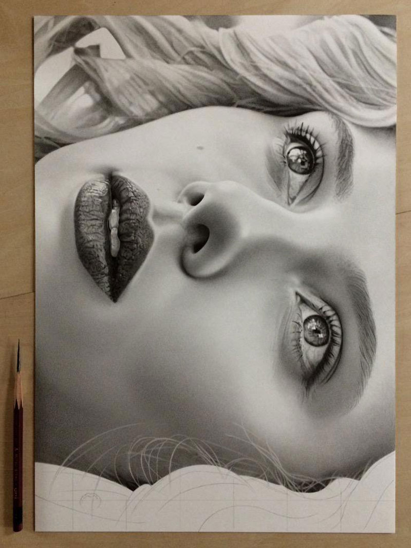 Image of: Pencil Hyper Realistic Pencil Drawings By Japanese Artist Kohei Ohmori Highly Detailed Close Ups Of Amazing Twistedsifter Highly Detailed Closeups Of Amazing Hyper Realistic Pencil Drawings