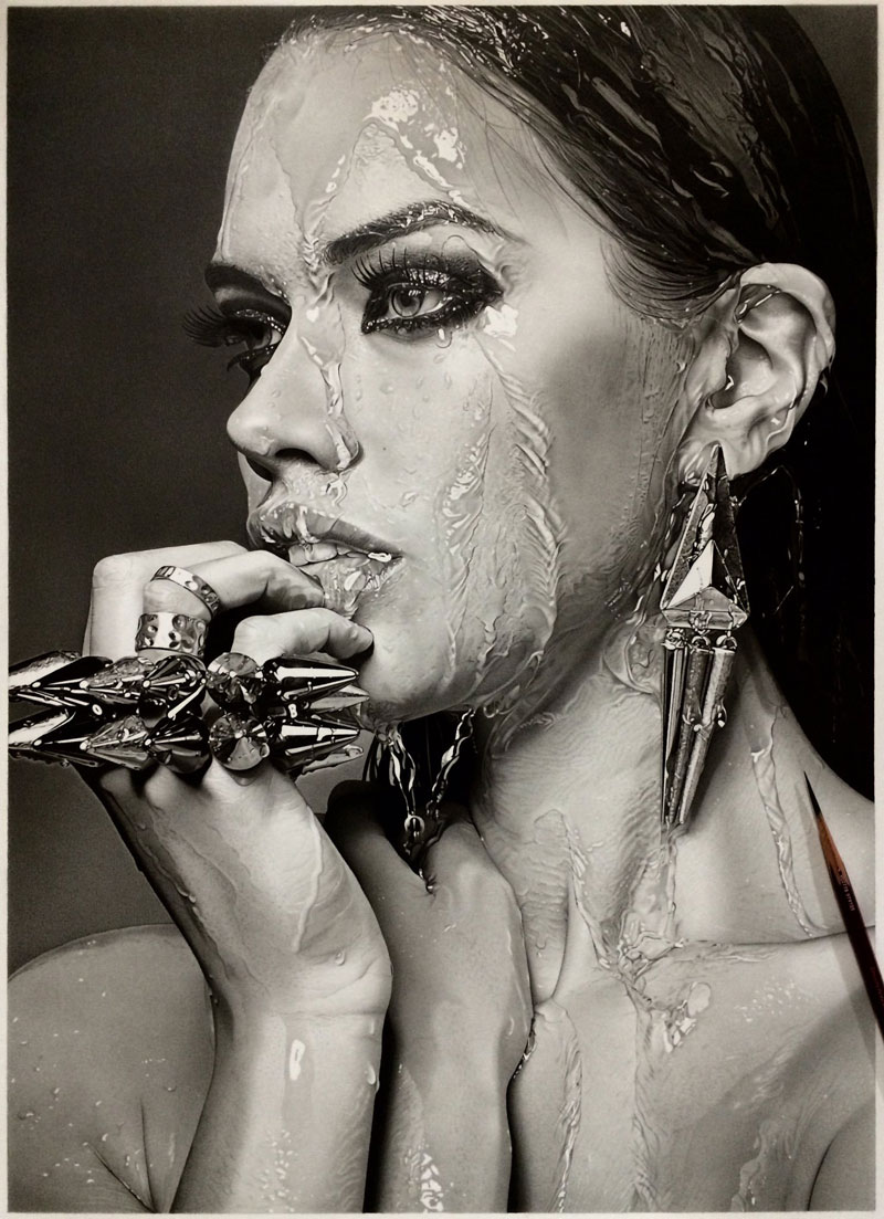 Image of: Pencil Drawings Hyper Realistic Pencil Drawings By Japanese Artist Kohei Ohmori Highly Detailed Close Ups Of Amazing Twistedsifter Highly Detailed Closeups Of Amazing Hyper Realistic Pencil Drawings