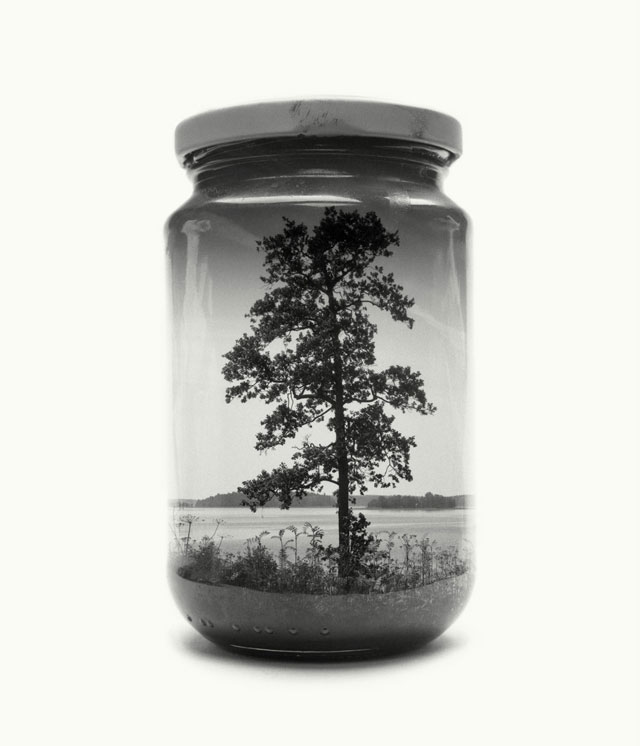 jarred and displaced by christoffer relander 14 Bottled Memories of Childhood Landscapes Using Double Exposure Photography