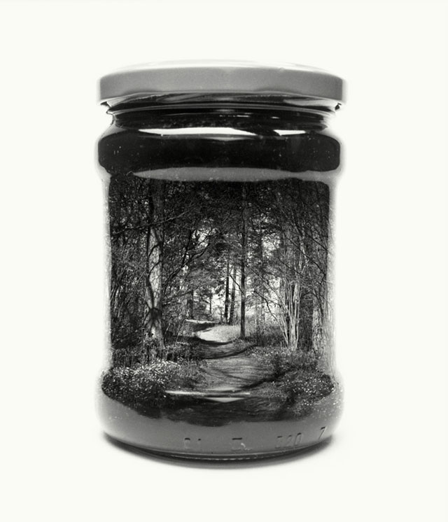 jarred and displaced by christoffer relander 15 Bottled Memories of Childhood Landscapes Using Double Exposure Photography