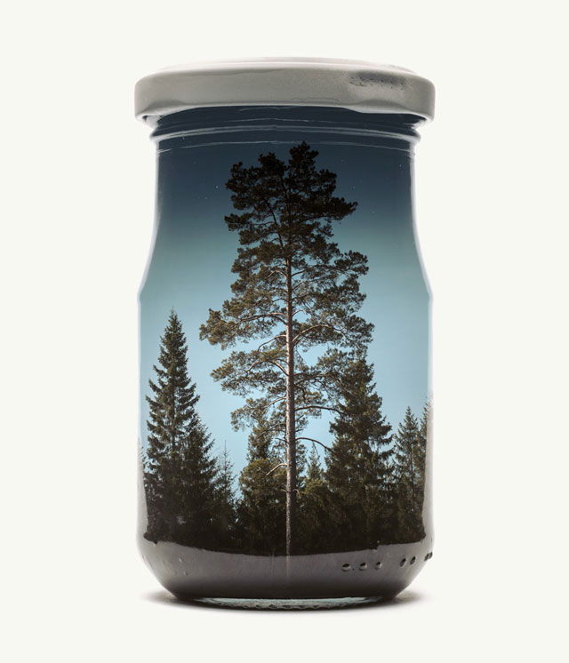 jarred and displaced by christoffer relander 4 Bottled Memories of Childhood Landscapes Using Double Exposure Photography