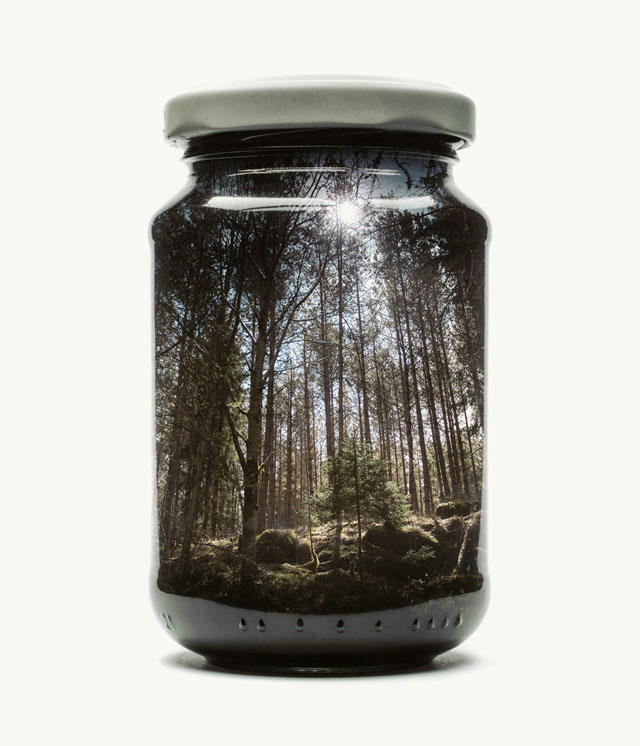 jarred and displaced by christoffer relander 5 Bottled Memories of Childhood Landscapes Using Double Exposure Photography