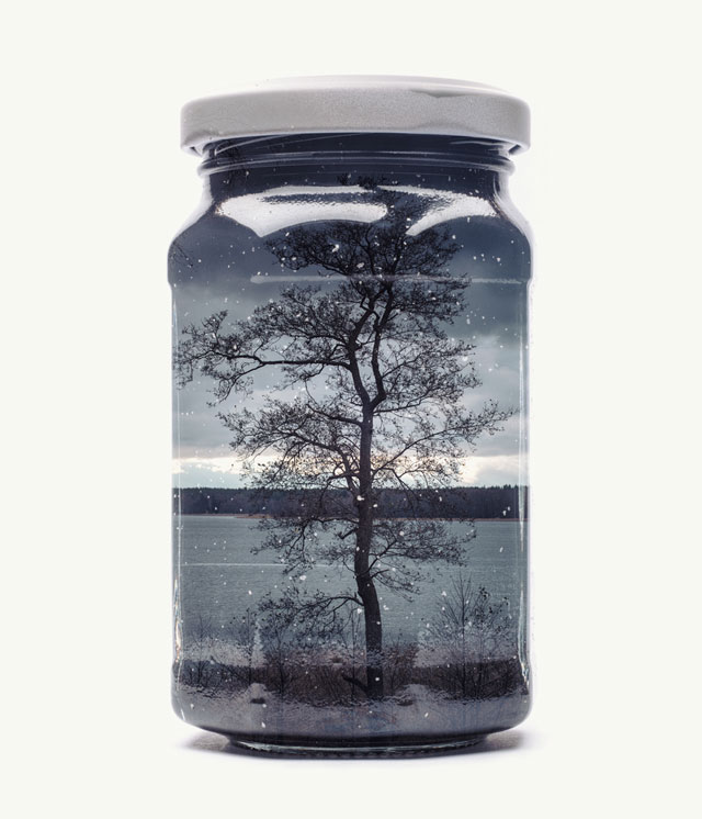 jarred and displaced by christoffer relander 7 Bottled Memories of Childhood Landscapes Using Double Exposure Photography