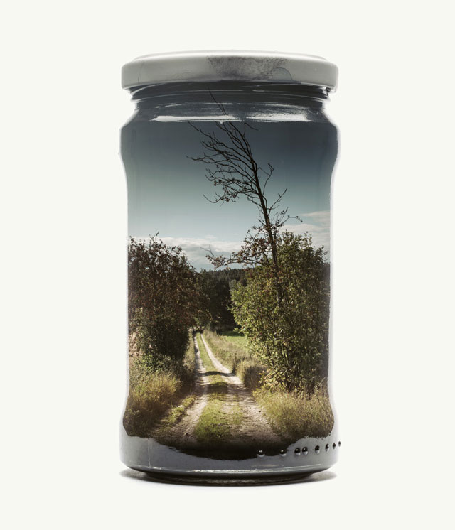 jarred and displaced by christoffer relander 8 Bottled Memories of Childhood Landscapes Using Double Exposure Photography