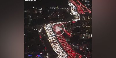 Video of Thanksgiving Traffic on LA Freeway Will Give You All Kinds of Anxiety