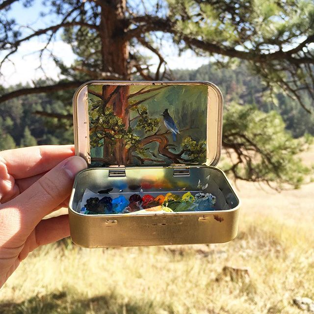 miniature landscapes painted inside mint tins by heidi annalise 14 15 Miniature Landscapes Painted Inside Mint Tins