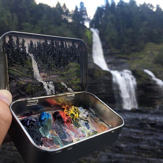 miniature landscapes painted inside mint tins by heidi annalise 15 15 Miniature Landscapes Painted Inside Mint Tins