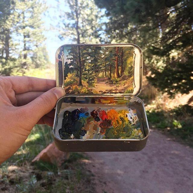 miniature landscapes painted inside mint tins by heidi annalise 3 15 Miniature Landscapes Painted Inside Mint Tins