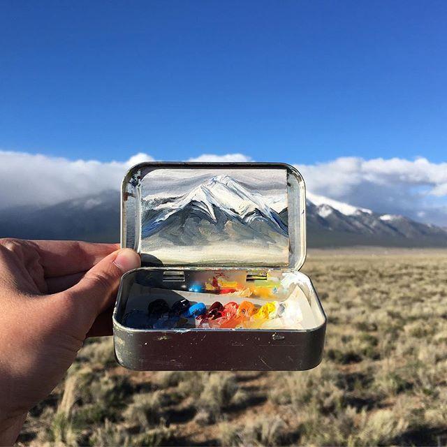 miniature landscapes painted inside mint tins by heidi annalise 4 15 Miniature Landscapes Painted Inside Mint Tins