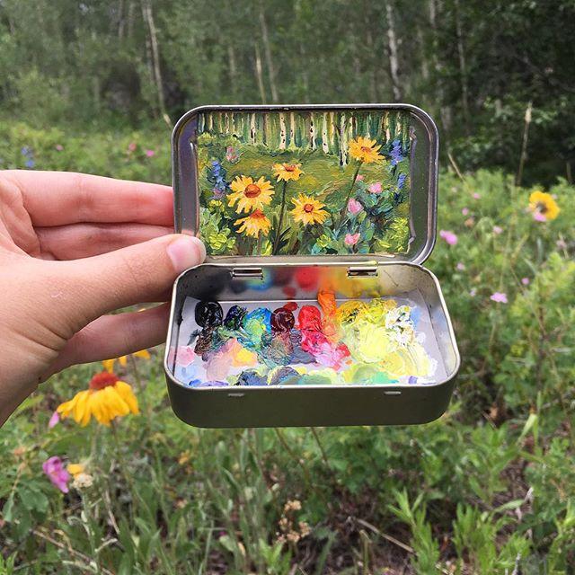 miniature landscapes painted inside mint tins by heidi annalise 5 15 Miniature Landscapes Painted Inside Mint Tins