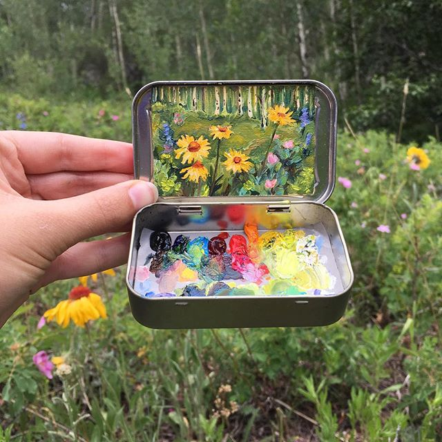 miniature landscapes painted inside mint tins by heidi annalise 5 15 Miniature Landscapes Painted Inside Mint Tins