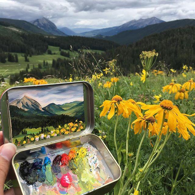 miniature landscapes painted inside mint tins by heidi annalise 7 15 Miniature Landscapes Painted Inside Mint Tins