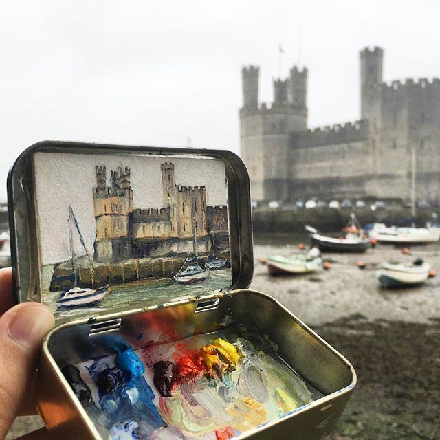 miniature landscapes painted inside mint tins by heidi annalise 8 15 Miniature Landscapes Painted Inside Mint Tins