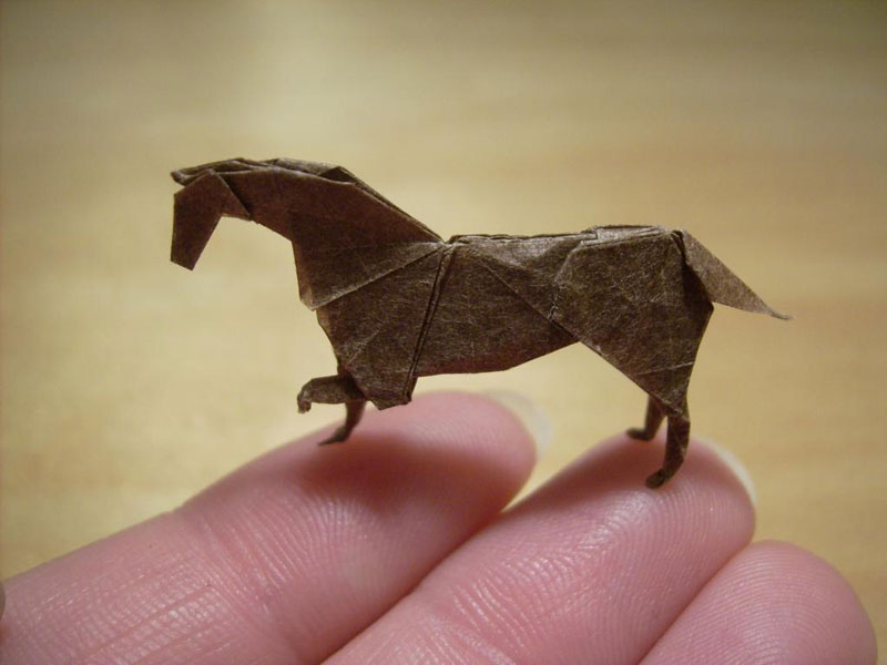 miniature origami with toothpicks by anja markiewicz 1 Paper Artist Uses Toothpicks to Fold Impossibly Small Origami