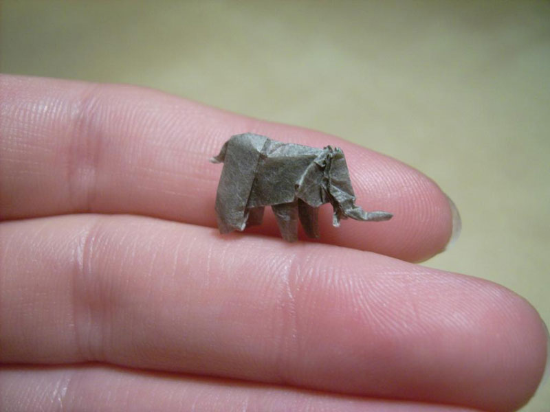 miniature origami with toothpicks by anja markiewicz 10 Paper Artist Uses Toothpicks to Fold Impossibly Small Origami