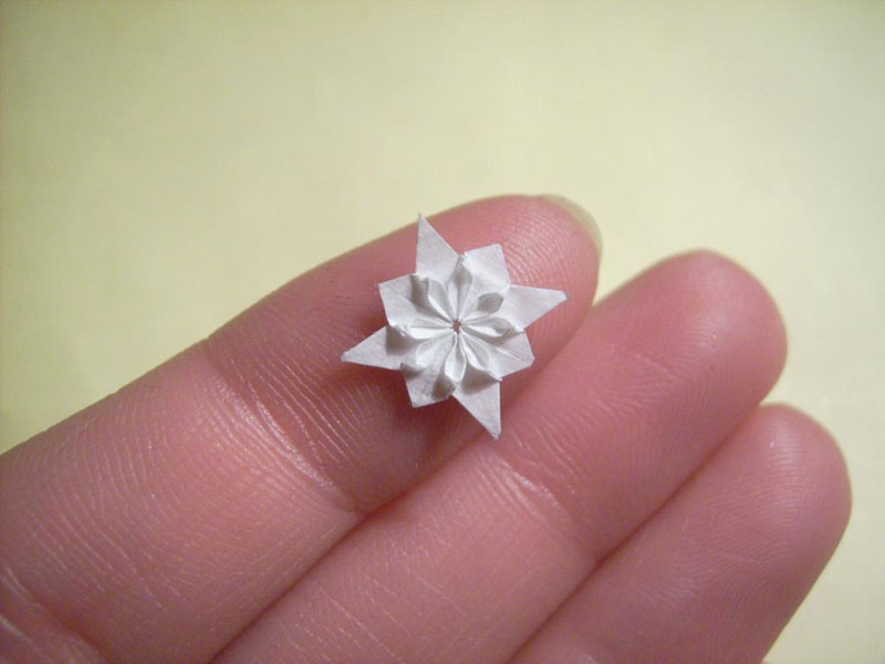 miniature origami with toothpicks by anja markiewicz 17 Paper Artist Uses Toothpicks to Fold Impossibly Small Origami