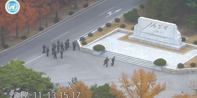 North Korean Soldier's Dramatic Escape Caught onCCTV
