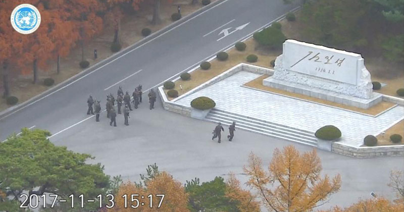 North Korean Soldier's Dramatic Escape Caught on CCTV