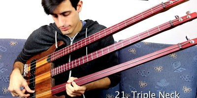 One Glorious Solo Played with 25 Different Bass Guitars