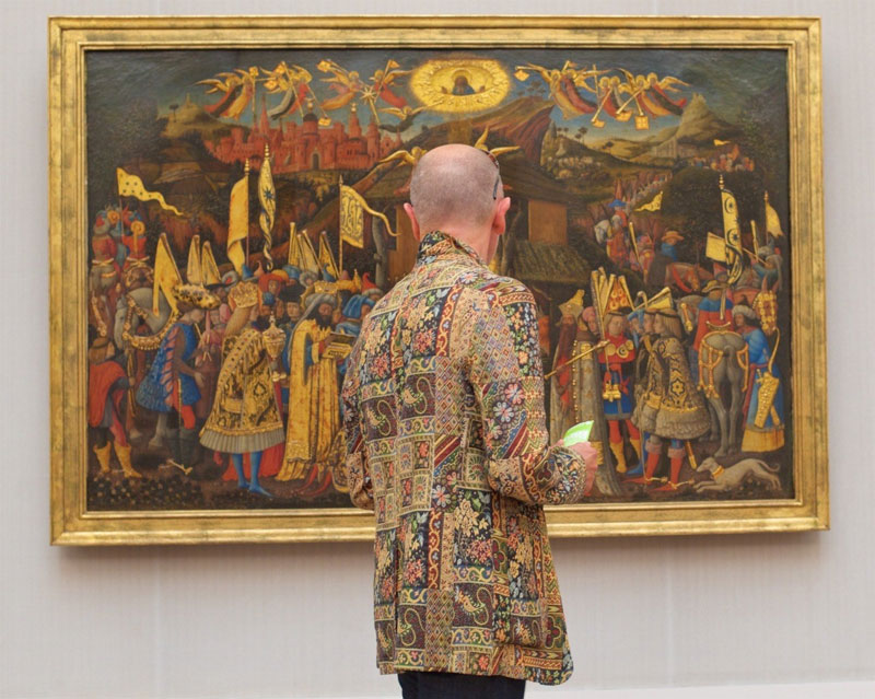 people matching painting they are looking at stefan draschan 21 25 Times People Matched the Painting They Were Looking At