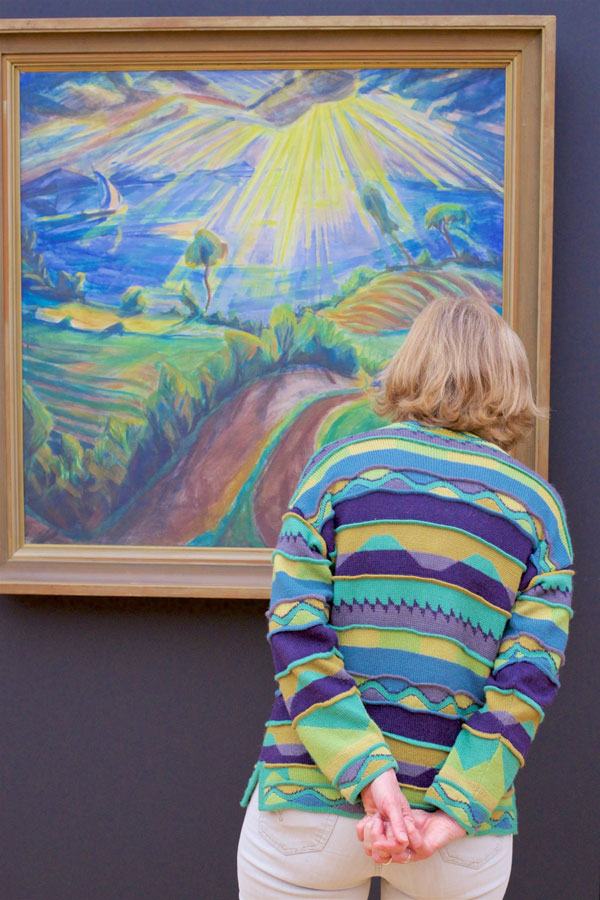 people matching painting they are looking at stefan draschan 22 25 Times People Matched the Painting They Were Looking At