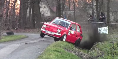 I Can't Stop Watching These Rally Drivers Push the Absolute Limits of thisFiat