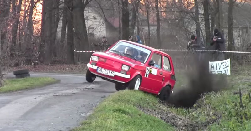 I Can't Stop Watching These Rally Drivers Push the Absolute Limits of this Fiat