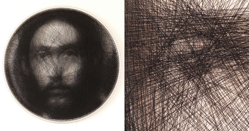 Renaissance Portraits Made From Single Thread on Circular Loom