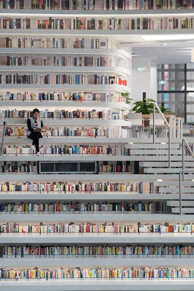 tianjin binhai public library china by mvrdv 2 Incredible Ocean of Books Library Opens in China with Space for 1.2m Titles