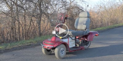Guy Hacks Mobility Scooter to Go 100Km/h