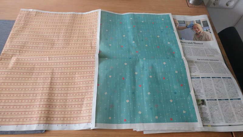 local newspaper prints full page color patterns that people can use to wrap gifts Local Newspaper Prints Full Color Patterns for People to Wrap Presents With