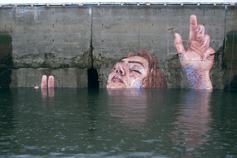 mural goes up and down with tide saint john new brunswick canada bay of fundy by hula 12 Mural Goes Up and Down with Tide, Will Eventually Fade to Nothing