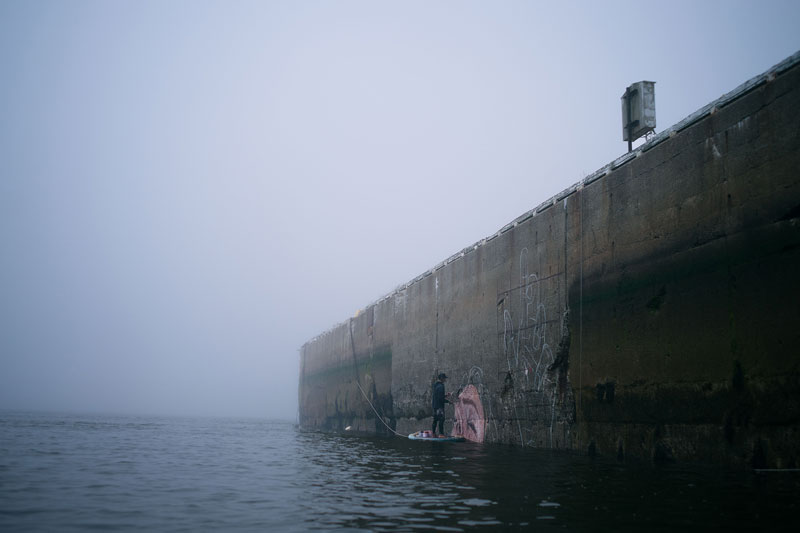 mural goes up and down with tide saint john new brunswick canada bay of fundy by hula 7 Mural Goes Up and Down with Tide, Will Eventually Fade to Nothing