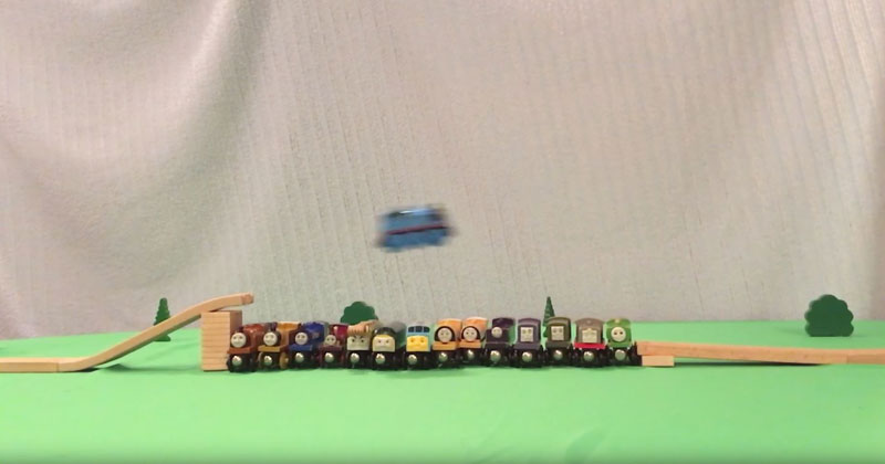 These Guys Pushed a Thomas the Tank Engine Train Set to theLimits
