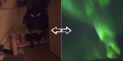 What It's Like to Just Wake up, Walk Outside, and See the Northern Lights