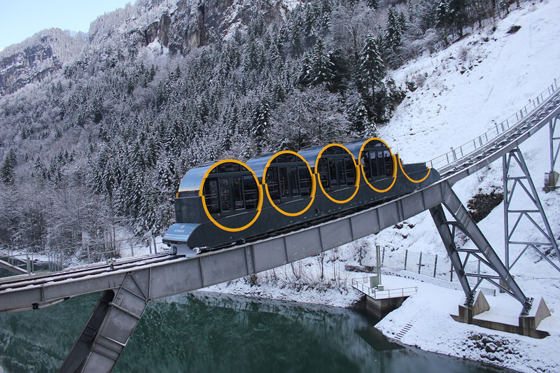 worlds steepest cliff railway opens in switzerland 1 The Worlds Steepest Cliff Railway Just Opened in the Swiss Alps