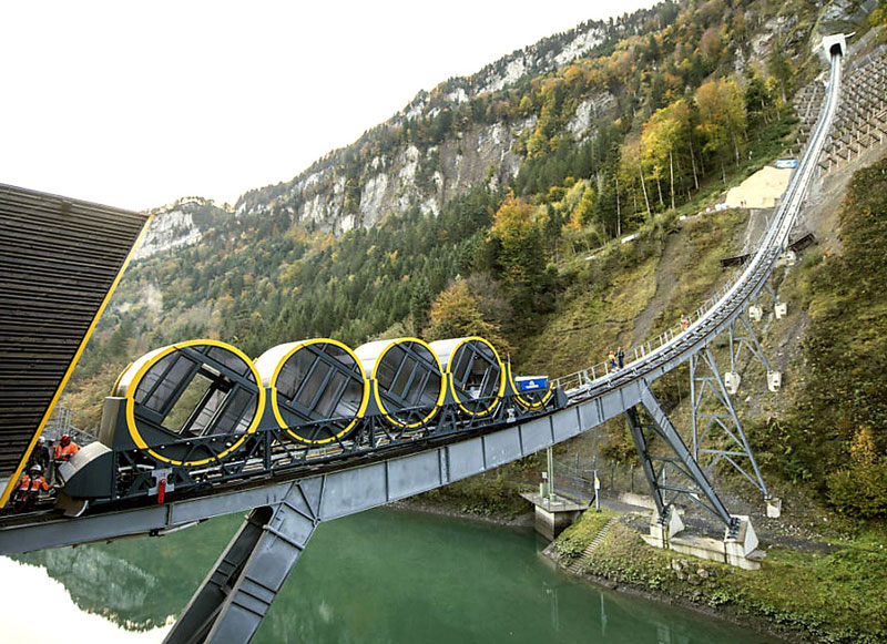 worlds steepest cliff railway opens in switzerland 7 The Worlds Steepest Cliff Railway Just Opened in the Swiss Alps