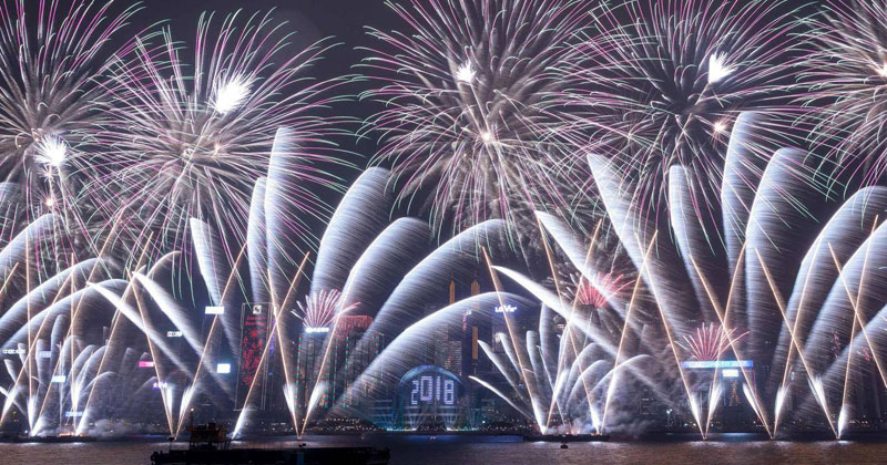 2 Non-Stop Minutes of New Year's Celebrations Around the World