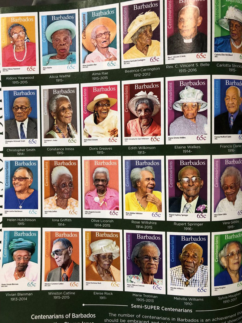 barbados stamp people over 100 People That Live to 100 in Barbados Get Their Own Stamp and thats Awesome