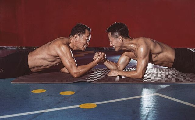father and son decide to get in shape together 8 Father and Son Decide to Get in Shape Together (9 Pics)